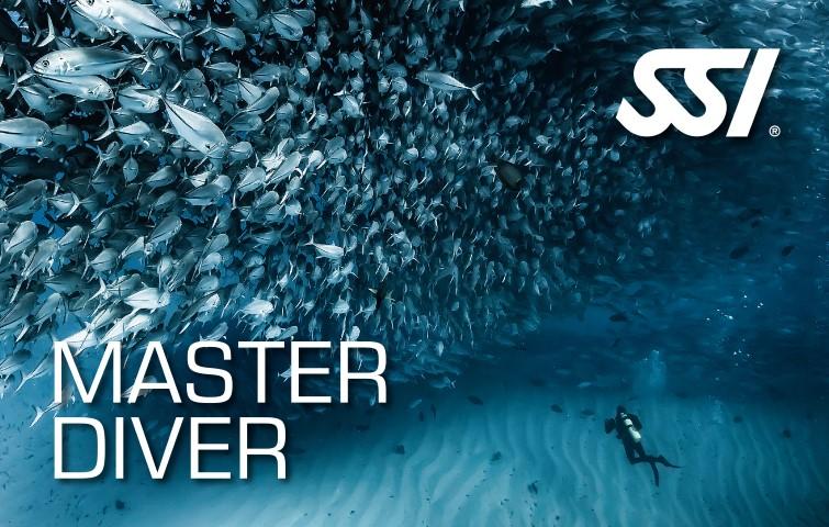 Master Diver: Flotabilidad / Profundo / Navegación / Nocturno / Stress & Rescue